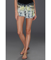 Free People - Dolphin Hem Multicolor Denim Cutoff Short