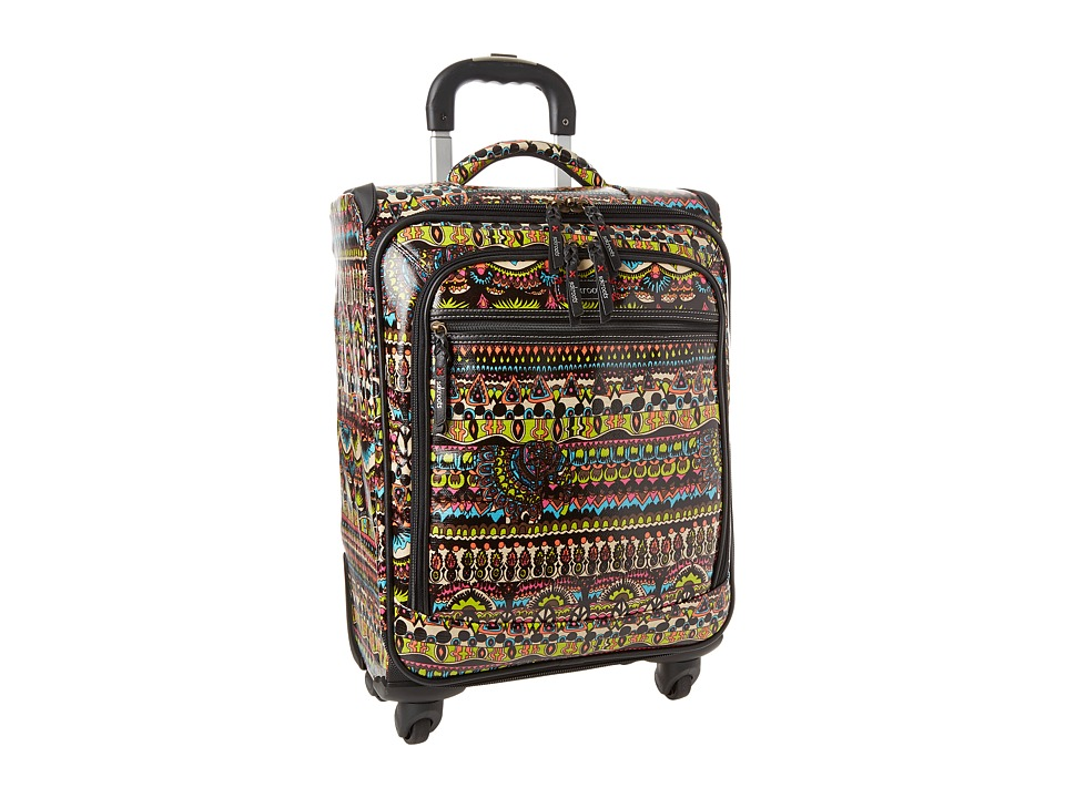Sakroots Sak Roots Carry On Suitcase Neon One World Carry on Luggage