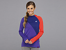 adidas - AKTIV Hooded Long-Sleeve Tee (Blast Purple/Hi-Res Red/Hero Ink)
