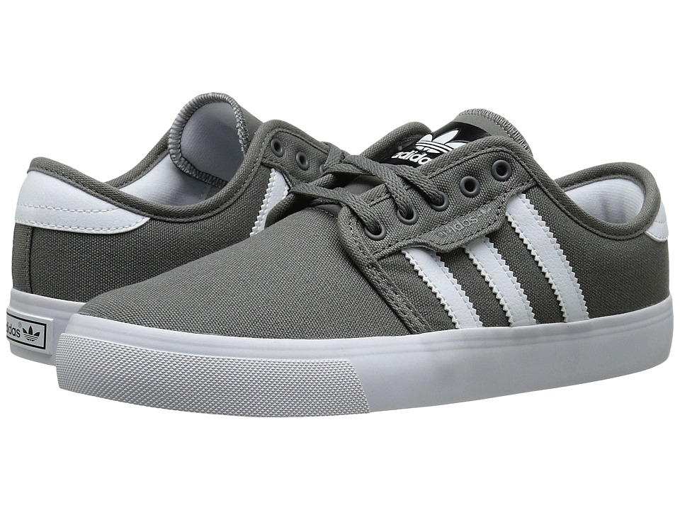adidas Skateboarding - Seeley J (Little Kid/Big Kid) (Mid Cinder/White/Black) Skate Shoes