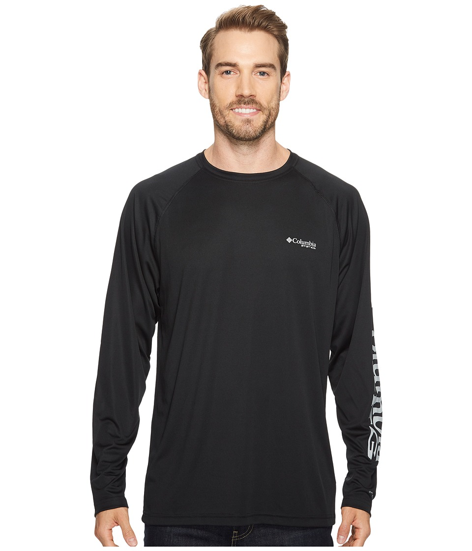 Columbia - Terminal Tackletm L/S Shirt (Black/Cool Grey Logo) Mens T Shirt