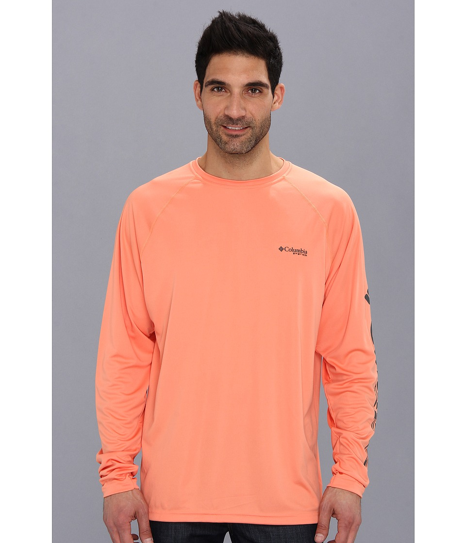 Columbia Terminal Tackle L/S Shirt (Bright Peach/Grill Logo) Men