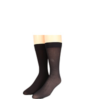 Anne Klein - Solid/Chevron Trouser Socks (2-Pair Pack)