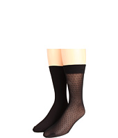 Anne Klein - Solid/Small Dot Trouser Socks (2-Pair Pack)