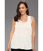 DKNY Jeans - Plus Size Sheer Double Layer Tank