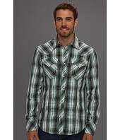 True Religion - Plaid Poplin Rocky Western Shirt in Turquoise