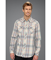 True Religion - Long Sleeve Plaid Flannel Western Shirt in Reef