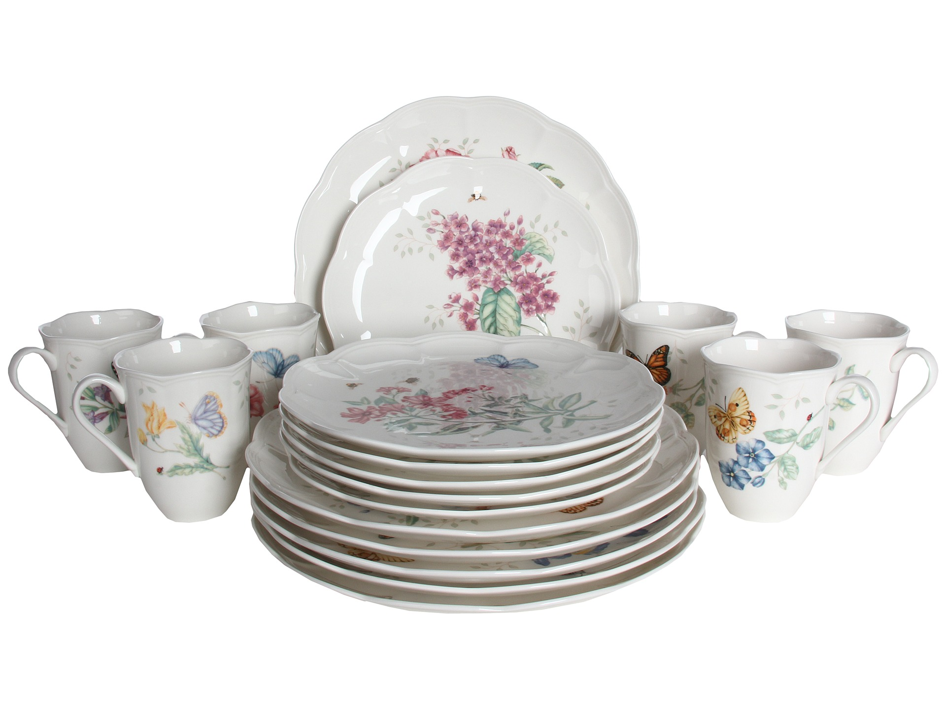 Lenox butterfly meadow 18 piece set shipped free at zappos for Table 6 lenox