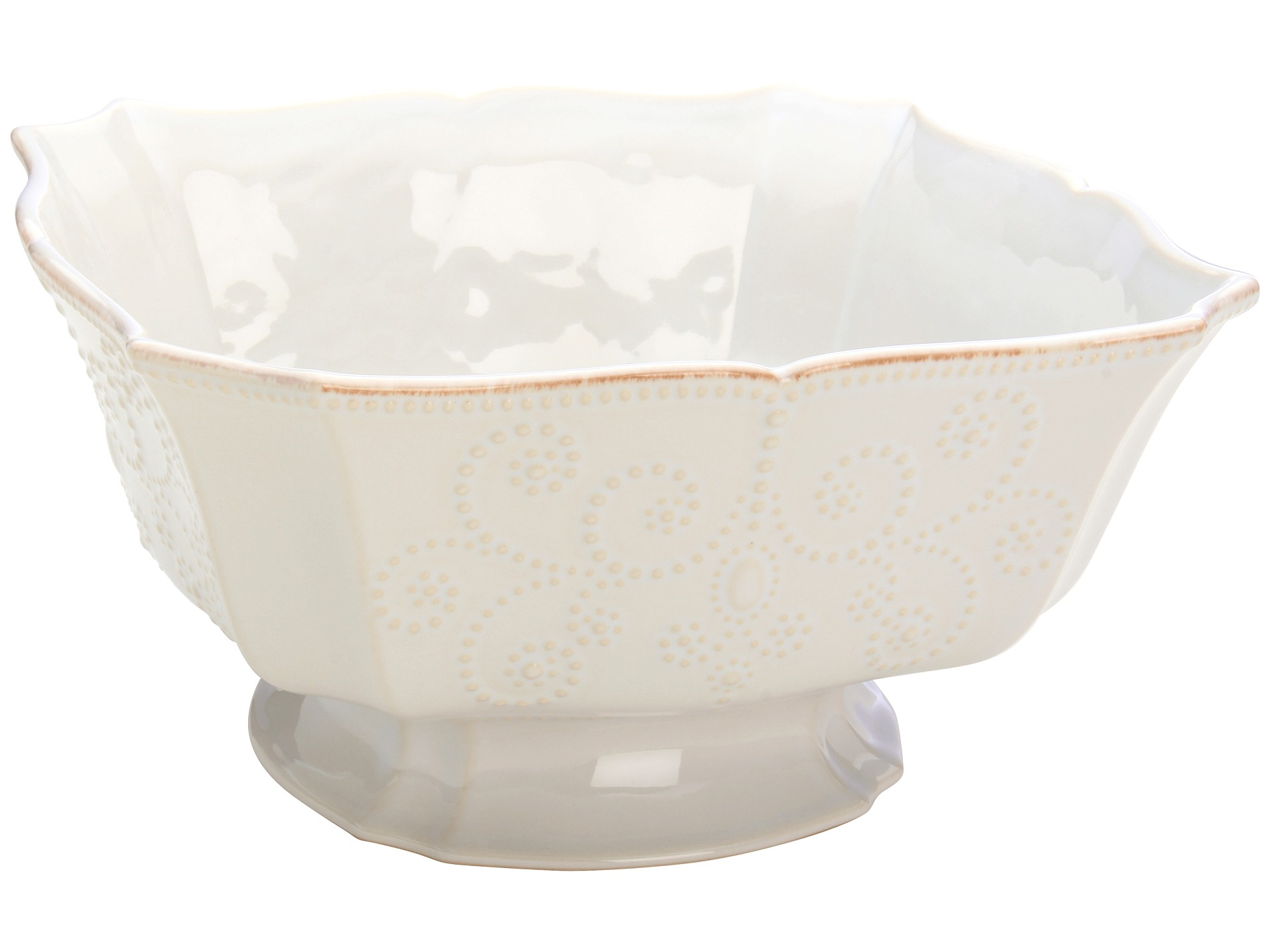 Lenox french perle footed centerpiece bowl white jewelry women shipped free at zappos - Footed bowl centerpiece ...