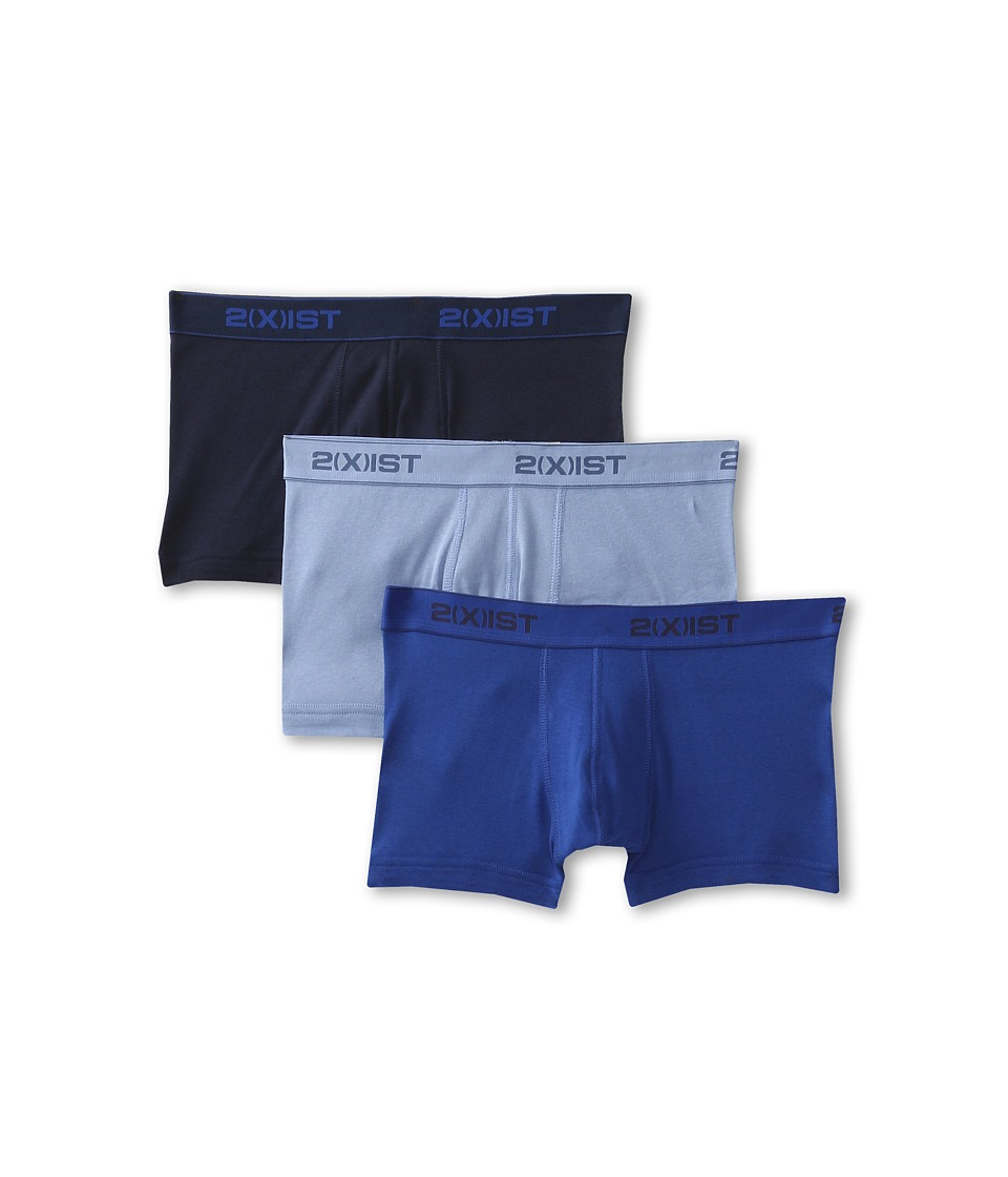 2XIST 3 Pack ESSENTIAL No Show Trunk Navy/Cobalt/Procelain Mens Underwear