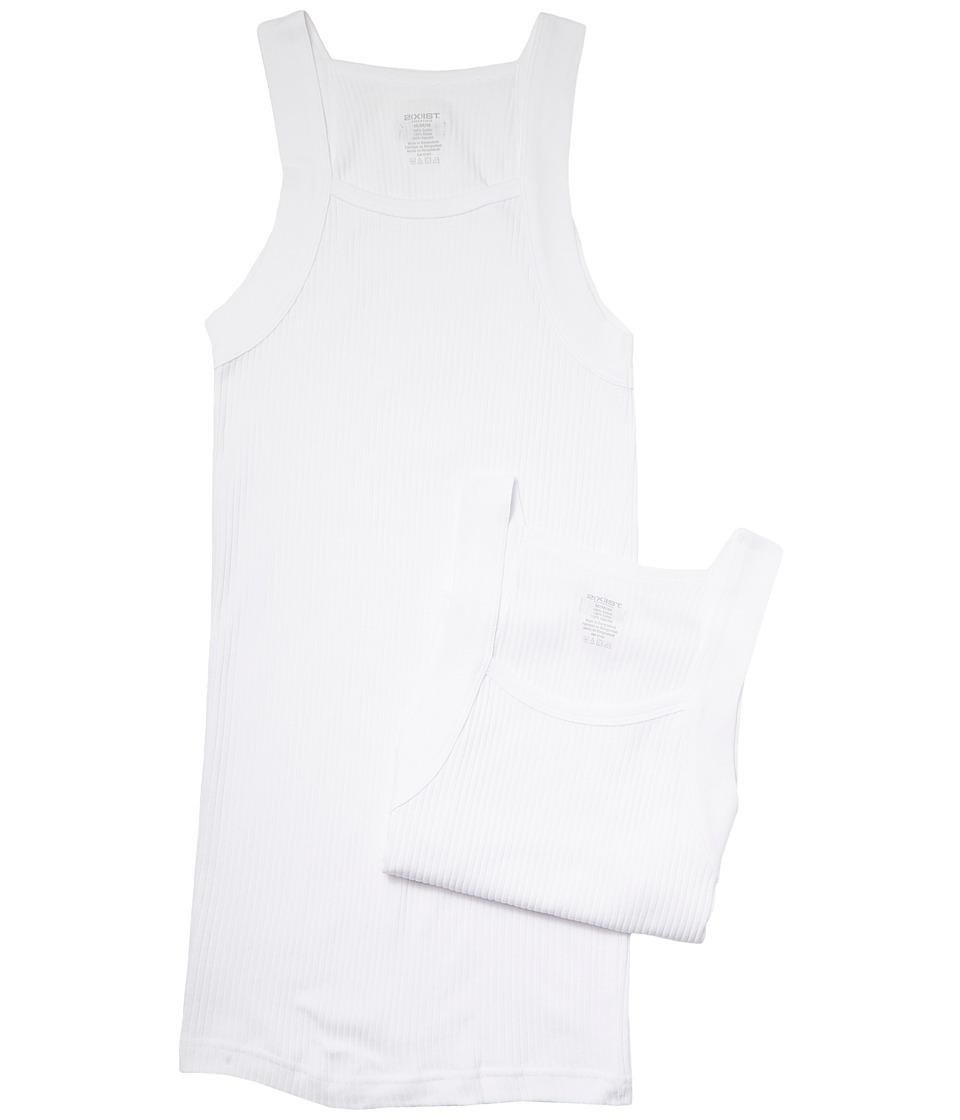 Image of 2(X)IST - 2-Pack ESSENTIAL Square-Cut Tank (White) Men's Underwear