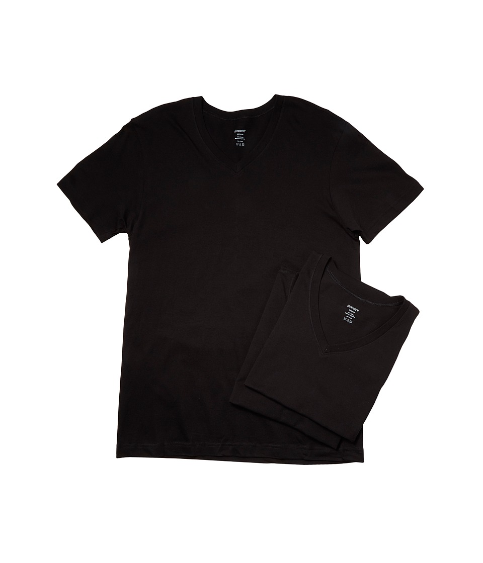 2XIST 3 Pack ESSENTIAL Jersey V Neck T Shirt Black Mens T Shirt