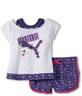 Puma Kids - Heart Print Short Set (Toddler)