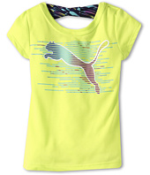Puma Kids - Cat w/ BK Bow Tee (Little Kids)