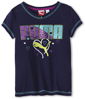 Puma Kids - Hearts V-Neck Tee (Little Kids)