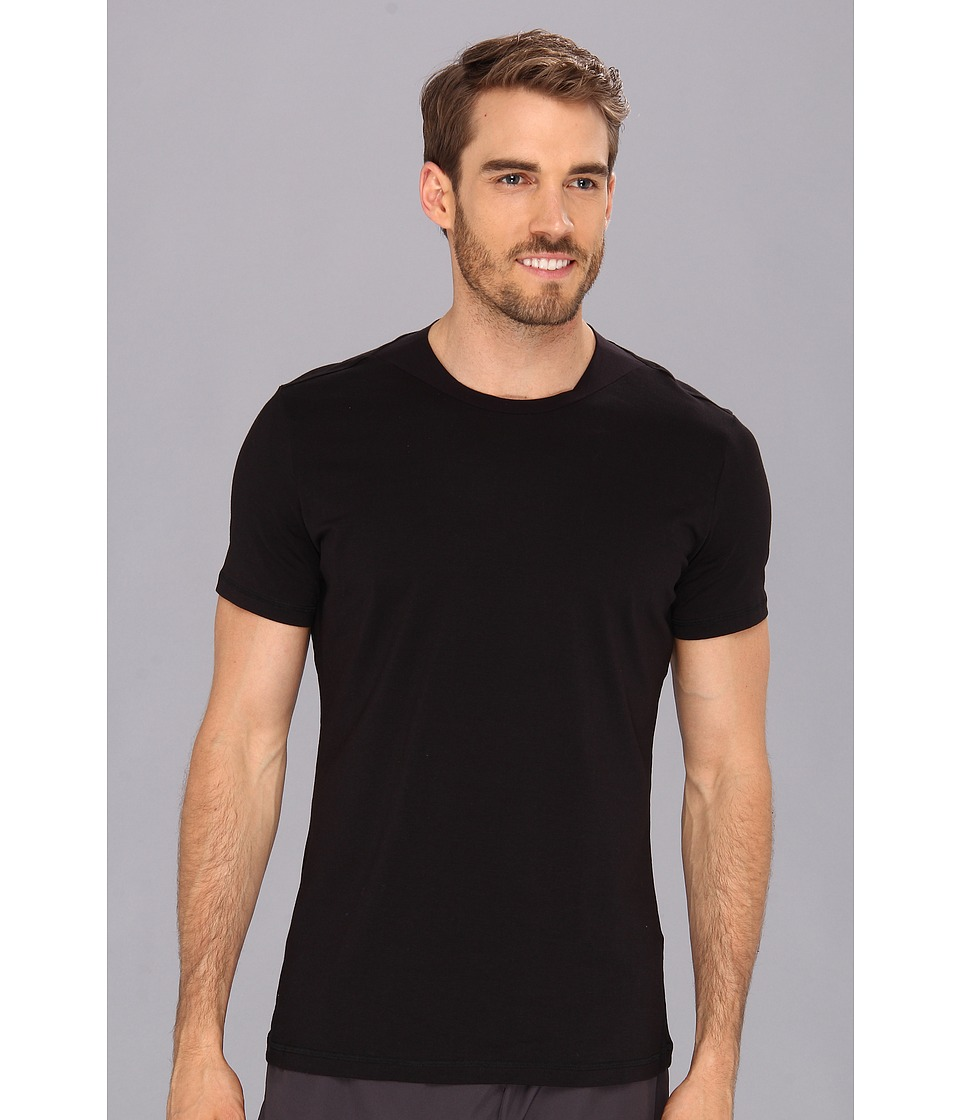 Spanx for Men Flex Touch Crew Black Mens T Shirt