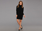KAMALIKULTURE - Dolman Turtleneck Dress (Black) - Apparel
