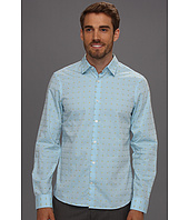 Perry Ellis - Slim Fit Clip Dot L/S Shirt