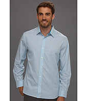 Perry Ellis - Regular Fit Thin Satin Stripe L/S Shirt