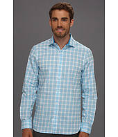 Perry Ellis - Slim Fit Twill Plaid L/S Shirt