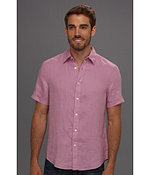 Perry Ellis - Slim Fit Solid Linen S/S Shirt