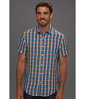 Perry Ellis - Regular Fit Linen Colorful Plaid S/S Shirt