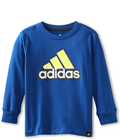 adidas Kids - Icon L/S Tee (Toddler/Little Kids)