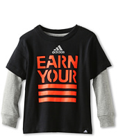 adidas Kids - Earn Your Stripes Long-Sleeve Tee (Toddler/Little Kids)