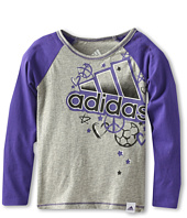 adidas Kids - Graphic Sparkle Raglan Shirt (Toddler/Little Kids)