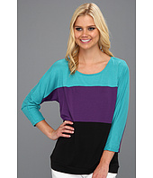Christin Michaels - Shashawna Color Block Top