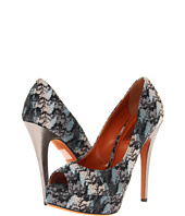 Missoni - Abstract Flame Stitch Open Toe Platform Pump