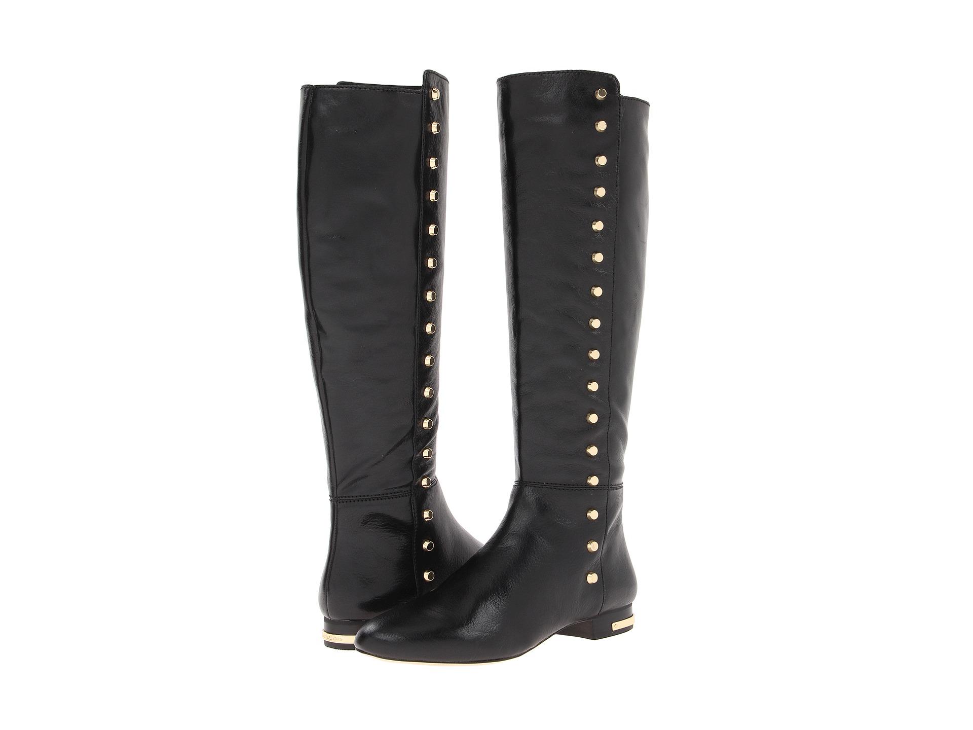 michael michael kors ailee flat boot black shipped free