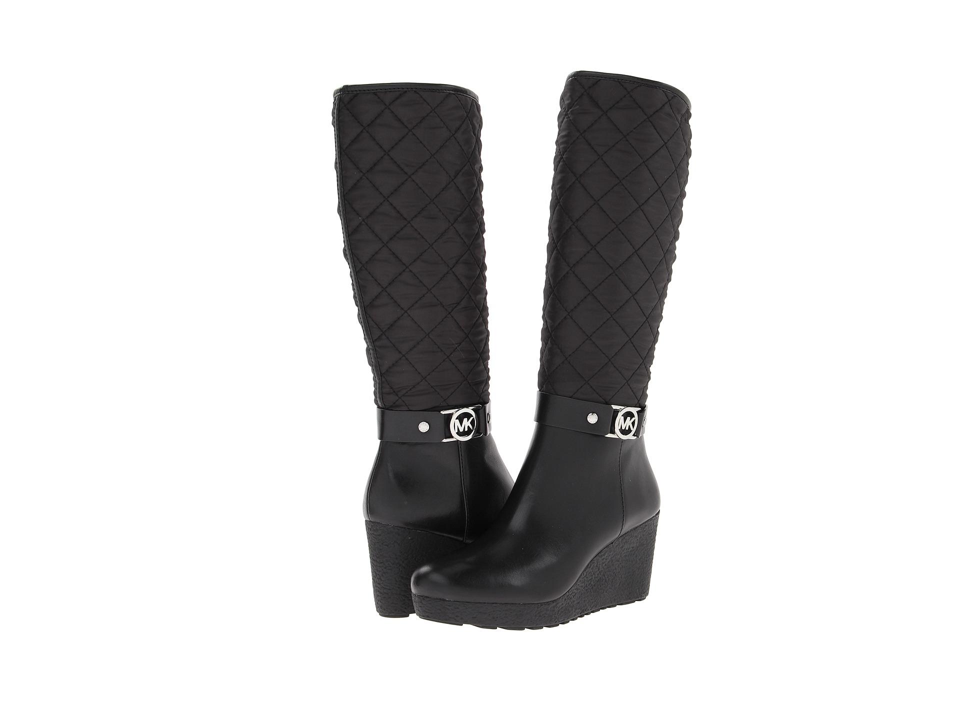 michael michael kors aaran wedge boot shipped free at zappos