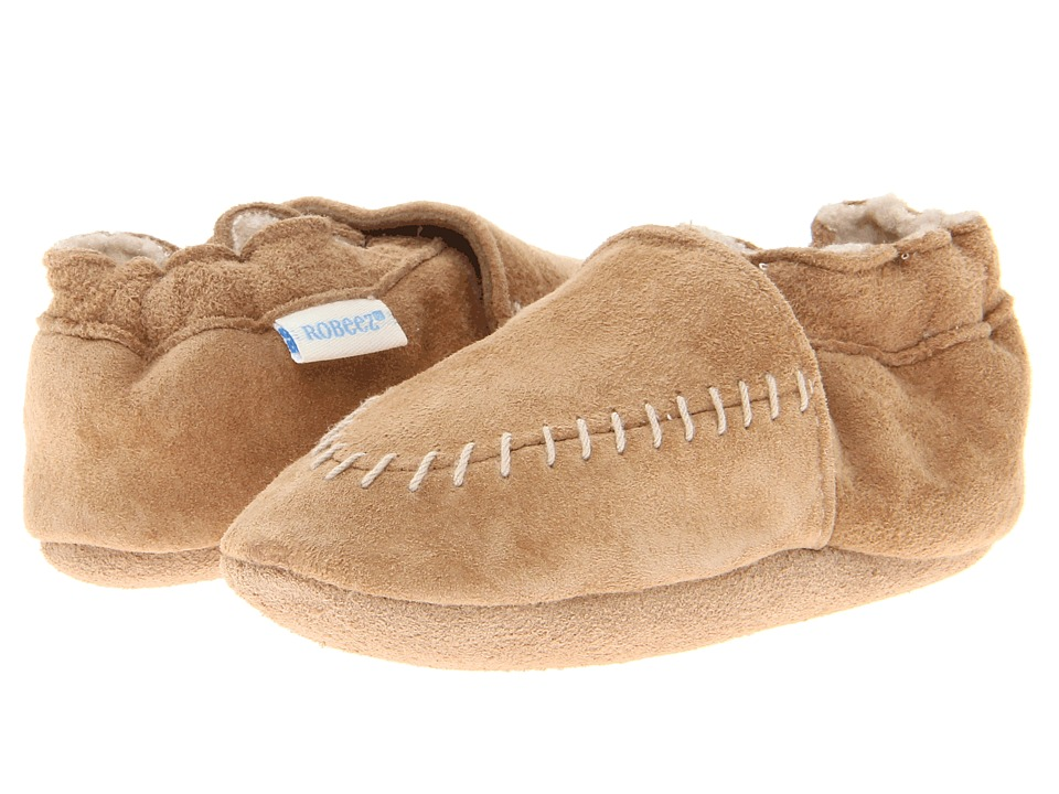 Robeez Cozy Moccasin Soft Sole Infant/Todder Taupe Boys Shoes