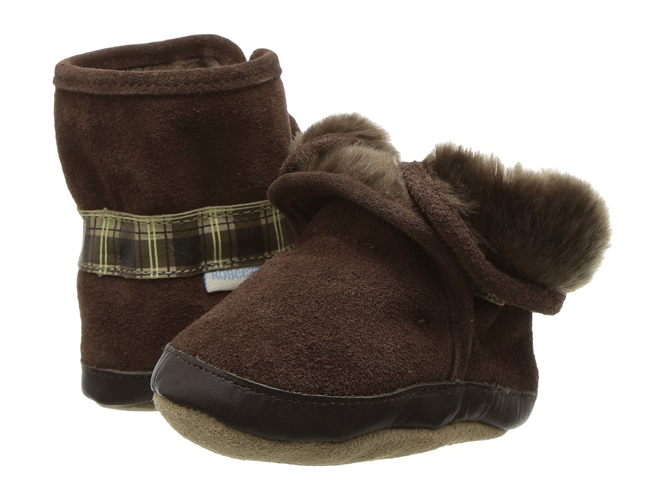 Robeez - Cozy Ankle Bootie Bootie (Infant/Todder) (Brown) Boys Shoes