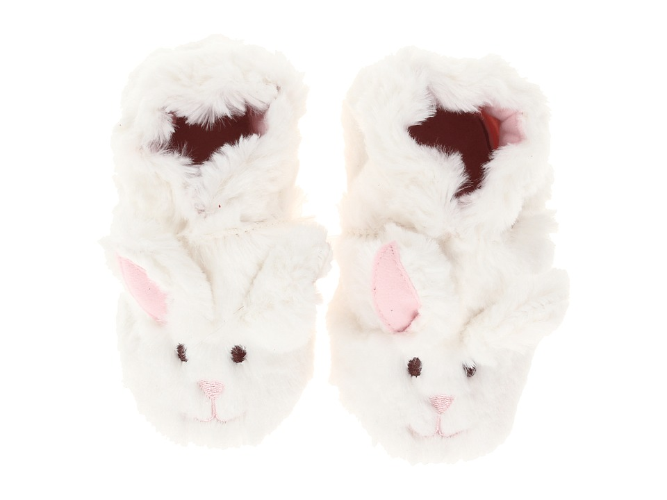 Robeez Fuzzy Bunny Soft Sole Infant/Todder White Girls Shoes