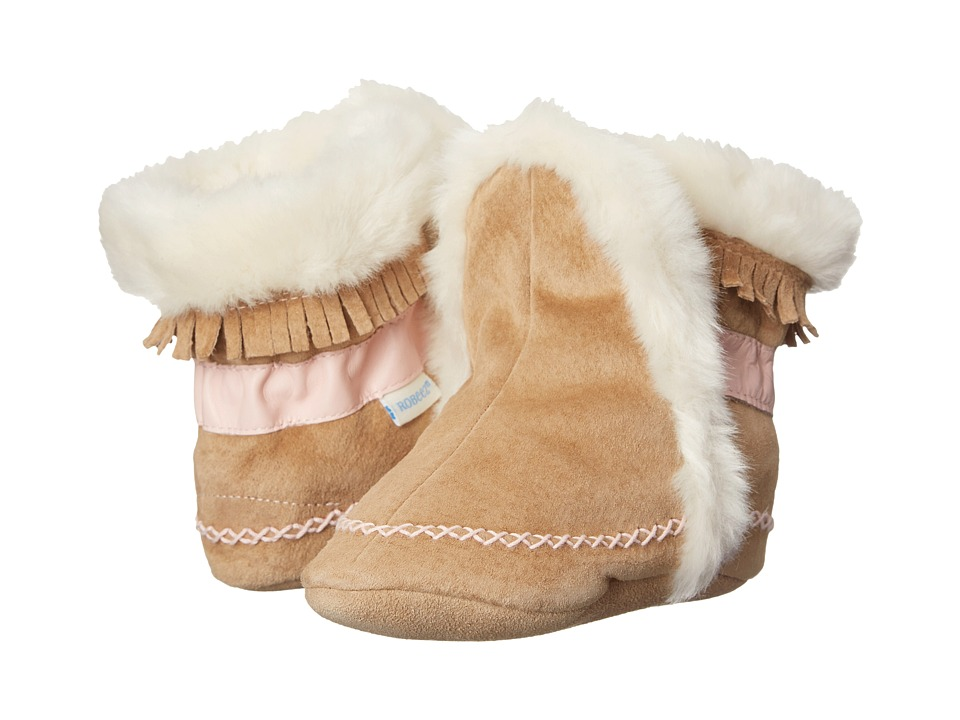 Robeez - Fab Folk Bootie (Infant/Todder) (Taupe) Girls Shoes