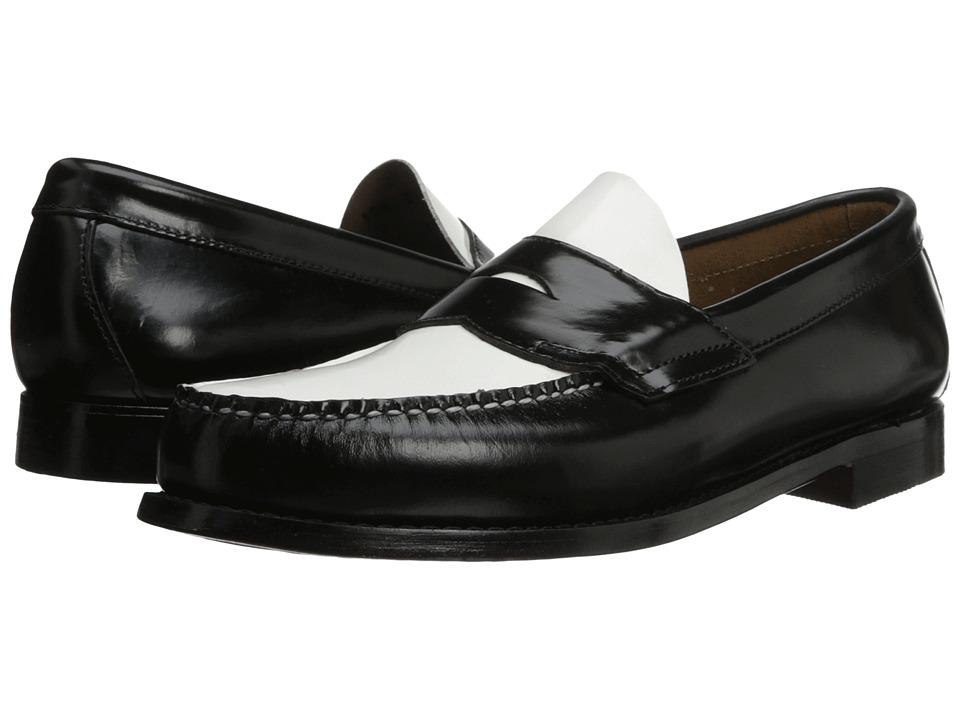 Bass - Logan BlackWhite Mens Shoes $109.00 AT vintagedancer.com