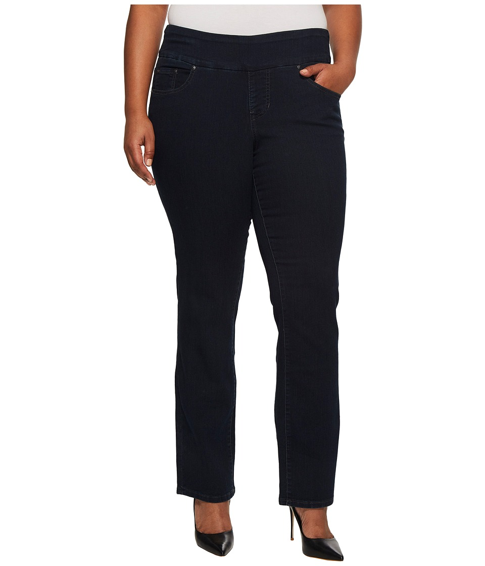 Jag Jeans Plus Size - Plus Size Peri Pull-on Straight in After Midnight (After Midnight) Womens Jeans