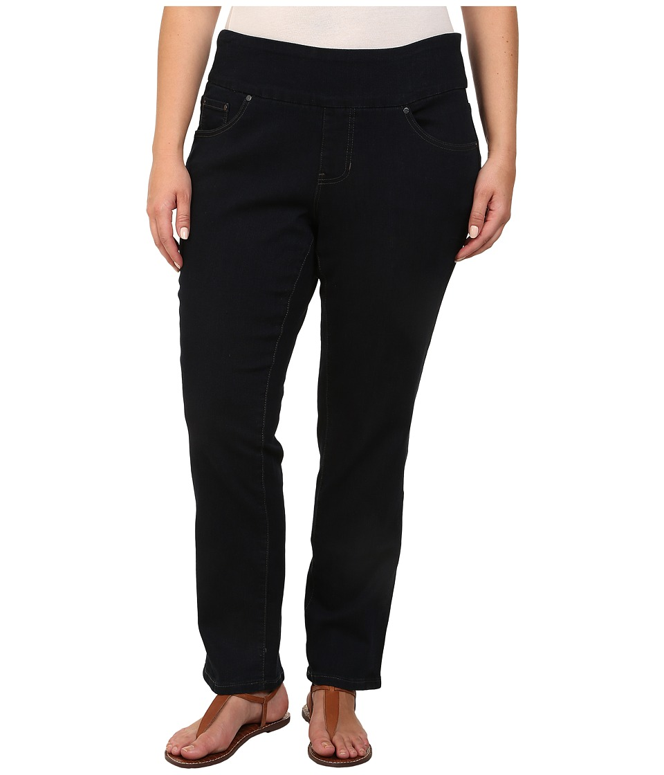 Jag Jeans Plus Size Plus Size Petite Peri Pull On Straight in After Midnight After Midnight Womens Jeans