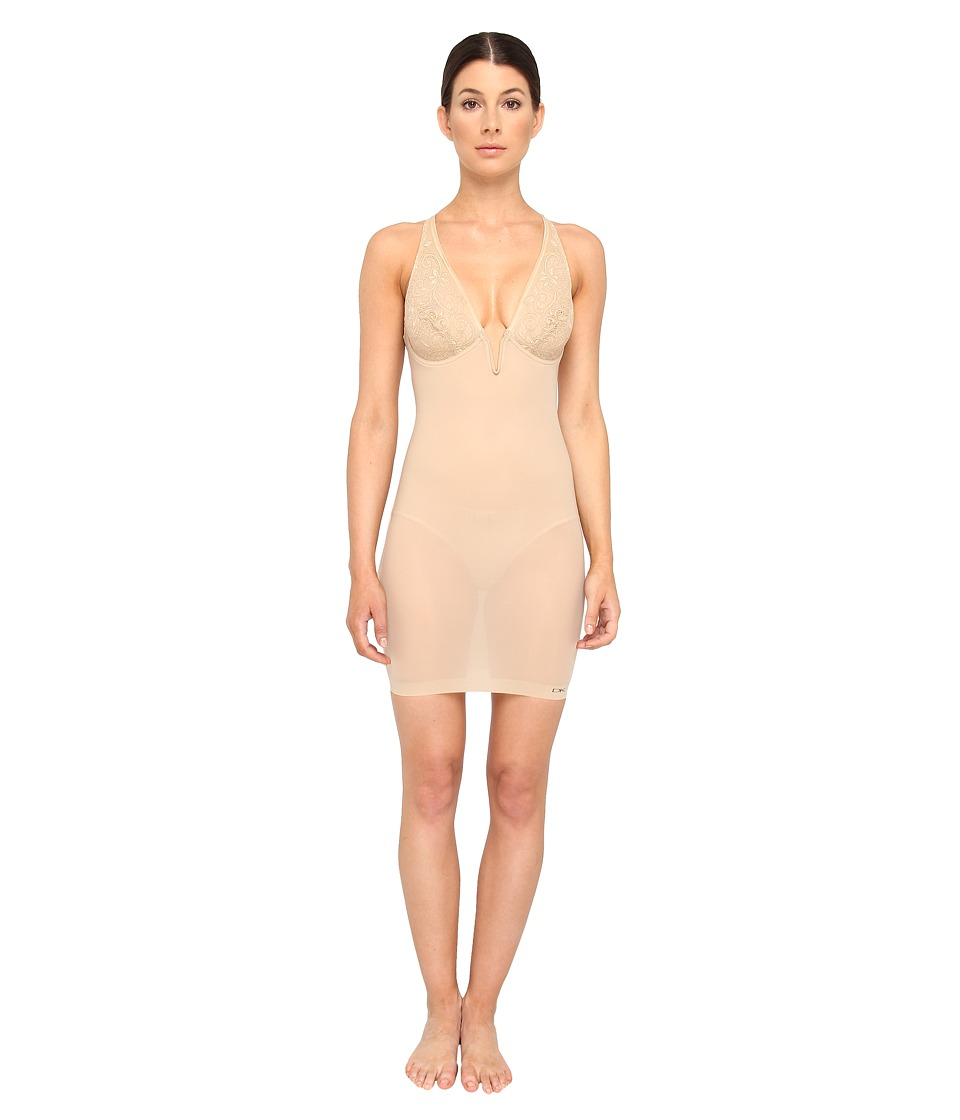 Donna Karan Sculpting Solutions Lace Smoothing Slip Nomad/Froth Womens Lingerie