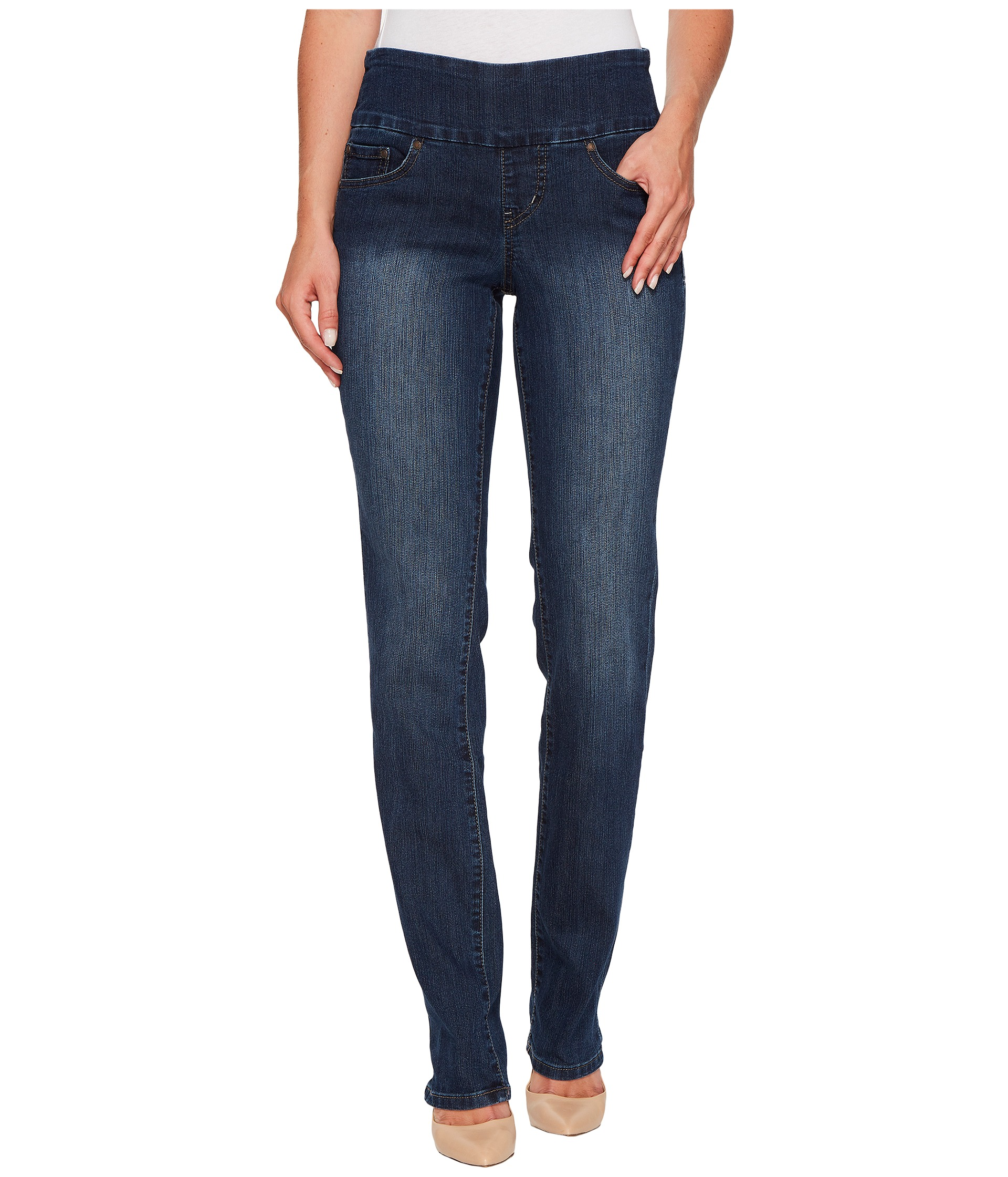 Jag Jeans Peri Pull-On Straight in Anchor Blue at Zappos.com