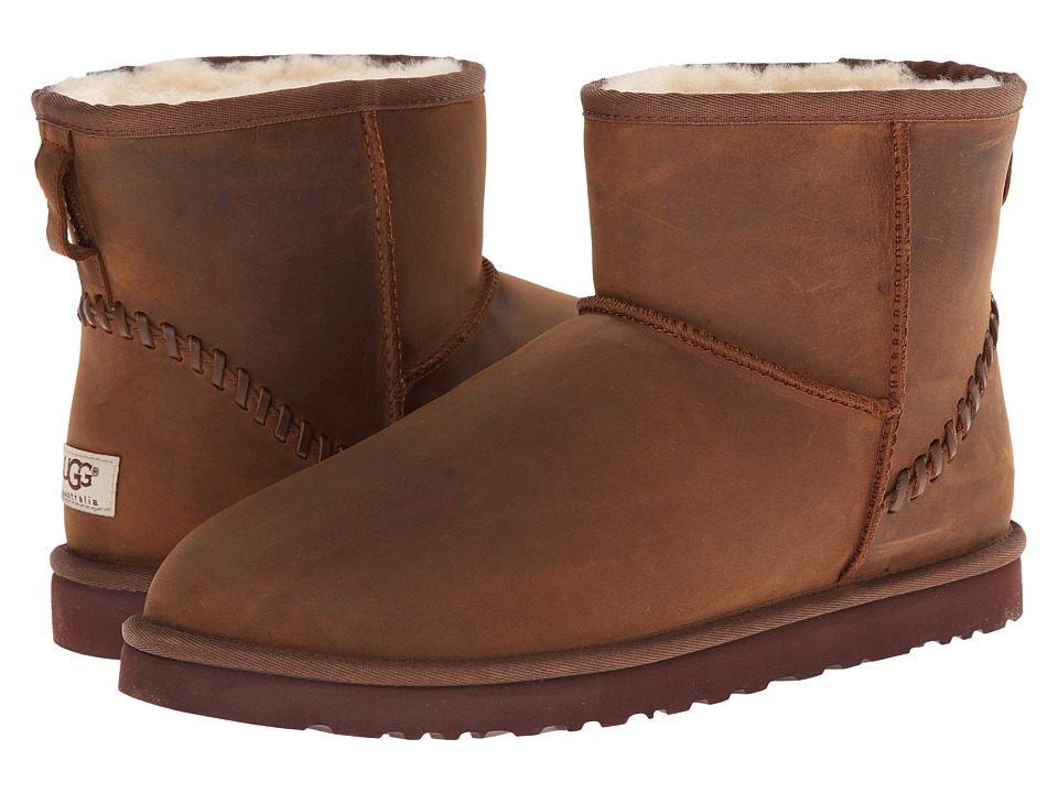 UGG - Classic Mini Deco (Chestnut Leather) Men