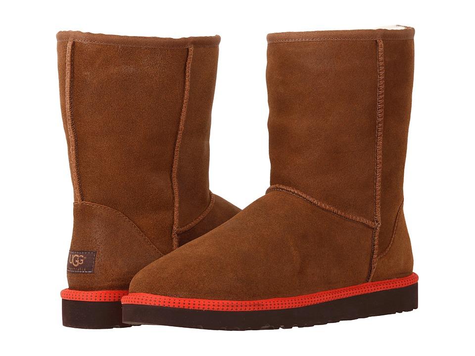 UGG Classic Short Leather (Chestnut Leather/Sheepskin) Men