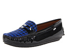 Venettini Kids - 55-Savor (Little Kid/Big Kid) (Black Patent/Blue Zig Pony) - Footwear