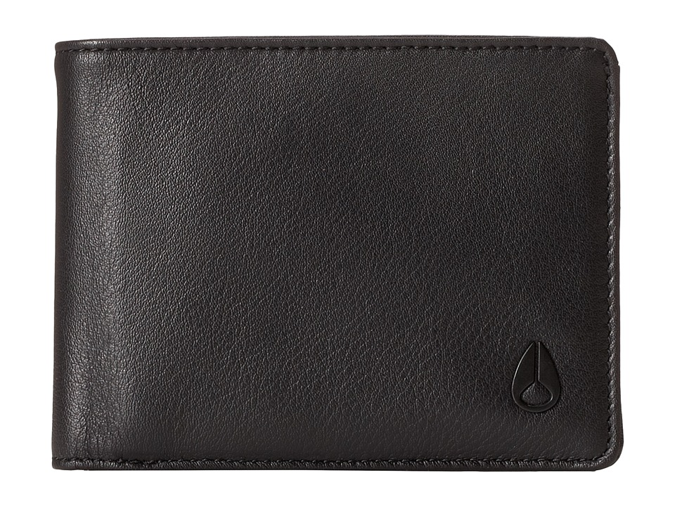 Nixon - Pass Bi-Fold ID Wallet (All Black) Bill-fold Wallet