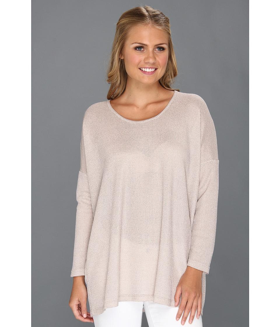 Lisa Taranto Lauren Knit Tee Blush Womens Long Sleeve Pullover