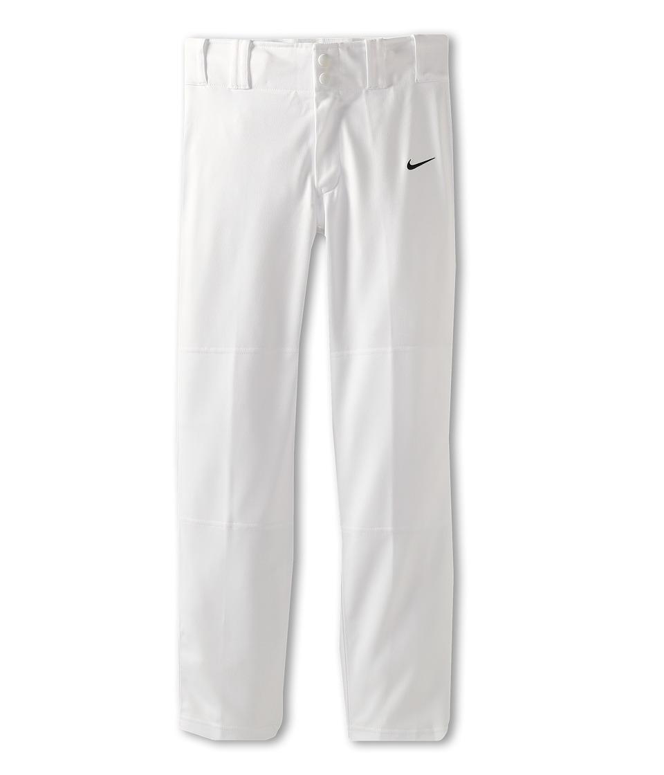 Nike Kids Baseball Core Dri FIT Open Hem Pant Little Kids/Big Kids White Boys Workout