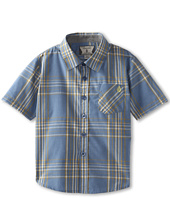 Volcom Kids - Why Factor Plaid S/S Woven (Toddler/Little Kids)