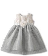 Us Angels - Jacquard & Metallic Tulle Dress (Infant/Toddler)